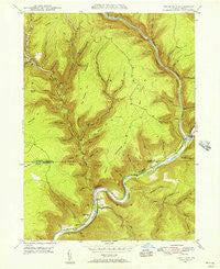 Cedar Run Pennsylvania Historical topographic map, 1:24000 scale, 7.5 X 7.5 Minute, Year 1946