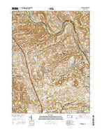 Cementon Pennsylvania Current topographic map, 1:24000 scale, 7.5 X 7.5 Minute, Year 2016 from Pennsylvania Map Store