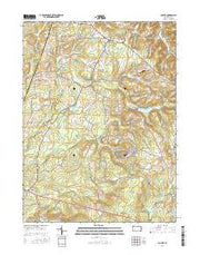 Colver Pennsylvania Current topographic map, 1:24000 scale, 7.5 X 7.5 Minute, Year 2016 from Pennsylvania Maps Store