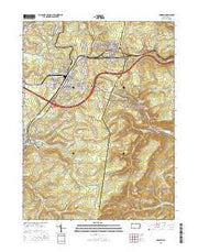 Cresson Pennsylvania Current topographic map, 1:24000 scale, 7.5 X 7.5 Minute, Year 2016 from Pennsylvania Maps Store