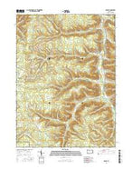 Crosby Pennsylvania Current topographic map, 1:24000 scale, 7.5 X 7.5 Minute, Year 2016 from Pennsylvania Map Store