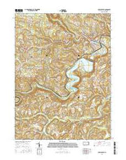 Curwensville Pennsylvania Current topographic map, 1:24000 scale, 7.5 X 7.5 Minute, Year 2016 from Pennsylvania Maps Store