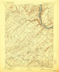 Doylestown Pennsylvania Historical topographic map, 1:62500 scale, 15 X 15 Minute, Year 1891