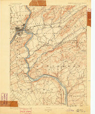 Easton Pennsylvania Historical topographic map, 1:62500 scale, 15 X 15 Minute, Year 1890