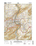 Easton Pennsylvania Current topographic map, 1:24000 scale, 7.5 X 7.5 Minute, Year 2016 from Pennsylvania Map Store