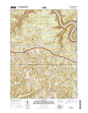 Eau Claire Pennsylvania Current topographic map, 1:24000 scale, 7.5 X 7.5 Minute, Year 2016 from Pennsylvania Maps Store