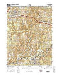 Ebensburg Pennsylvania Current topographic map, 1:24000 scale, 7.5 X 7.5 Minute, Year 2016