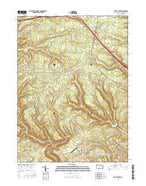 Elliott Park Pennsylvania Current topographic map, 1:24000 scale, 7.5 X 7.5 Minute, Year 2016 from Pennsylvania Map Store