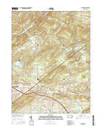 Elverson Pennsylvania Current topographic map, 1:24000 scale, 7.5 X 7.5 Minute, Year 2016 from Pennsylvania Map Store