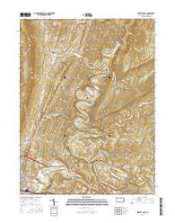 Everett East Pennsylvania Current topographic map, 1:24000 scale, 7.5 X 7.5 Minute, Year 2016