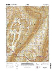 Everett West Pennsylvania Current topographic map, 1:24000 scale, 7.5 X 7.5 Minute, Year 2016