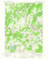 Factoryville Pennsylvania Historical topographic map, 1:24000 scale, 7.5 X 7.5 Minute, Year 1946