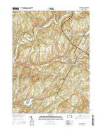 Factoryville Pennsylvania Current topographic map, 1:24000 scale, 7.5 X 7.5 Minute, Year 2016 from Pennsylvania Map Store