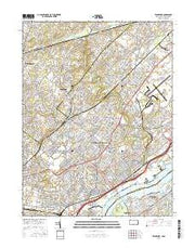 Frankford Pennsylvania Current topographic map, 1:24000 scale, 7.5 X 7.5 Minute, Year 2016 from Pennsylvania Maps Store