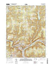 Franklin Pennsylvania Current topographic map, 1:24000 scale, 7.5 X 7.5 Minute, Year 2016 from Pennsylvania Maps Store