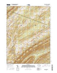 Franklinville Pennsylvania Current topographic map, 1:24000 scale, 7.5 X 7.5 Minute, Year 2016
