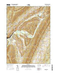 Frankstown Pennsylvania Current topographic map, 1:24000 scale, 7.5 X 7.5 Minute, Year 2016