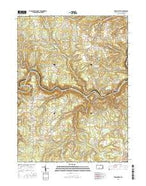 Frenchville Pennsylvania Current topographic map, 1:24000 scale, 7.5 X 7.5 Minute, Year 2016 from Pennsylvania Map Store