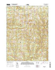 Fryburg Pennsylvania Current topographic map, 1:24000 scale, 7.5 X 7.5 Minute, Year 2016 from Pennsylvania Maps Store