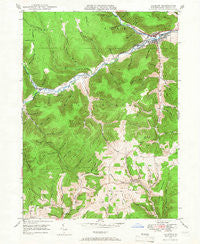 Galeton Pennsylvania Historical topographic map, 1:24000 scale, 7.5 X 7.5 Minute, Year 1947