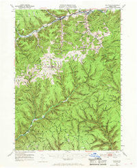 Galeton Pennsylvania Historical topographic map, 1:62500 scale, 15 X 15 Minute, Year 1947