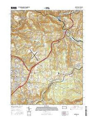 Geistown Pennsylvania Current topographic map, 1:24000 scale, 7.5 X 7.5 Minute, Year 2016