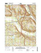 Geneva Pennsylvania Current topographic map, 1:24000 scale, 7.5 X 7.5 Minute, Year 2016 from Pennsylvania Map Store