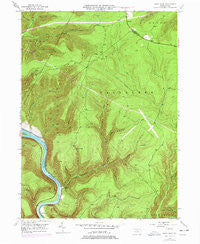 Glen Union Pennsylvania Historical topographic map, 1:24000 scale, 7.5 X 7.5 Minute, Year 1946