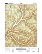 Glen Hazel Pennsylvania Current topographic map, 1:24000 scale, 7.5 X 7.5 Minute, Year 2016 from Pennsylvania Map Store