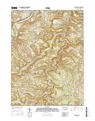 Glen Richey Pennsylvania Current topographic map, 1:24000 scale, 7.5 X 7.5 Minute, Year 2016