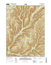 Grand Valley Pennsylvania Current topographic map, 1:24000 scale, 7.5 X 7.5 Minute, Year 2016 from Pennsylvania Maps Store