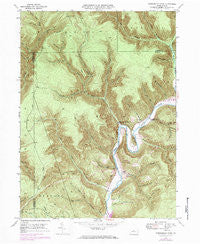Hammersley Fork Pennsylvania Historical topographic map, 1:24000 scale, 7.5 X 7.5 Minute, Year 1946