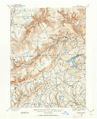 Harveys Lake Pennsylvania Historical topographic map, 1:62500 scale, 15 X 15 Minute, Year 1891
