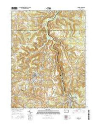 Hastings Pennsylvania Current topographic map, 1:24000 scale, 7.5 X 7.5 Minute, Year 2016