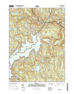 Hawley Pennsylvania Current topographic map, 1:24000 scale, 7.5 X 7.5 Minute, Year 2016 from Pennsylvania Map Store