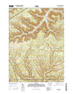 Hazel Hurst Pennsylvania Current topographic map, 1:24000 scale, 7.5 X 7.5 Minute, Year 2016 from Pennsylvania Map Store