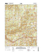 Hazen Pennsylvania Current topographic map, 1:24000 scale, 7.5 X 7.5 Minute, Year 2016 from Pennsylvania Map Store