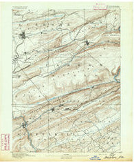 Hazleton Pennsylvania Historical topographic map, 1:62500 scale, 15 X 15 Minute, Year 1891