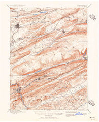 Hazleton Pennsylvania Historical topographic map, 1:62500 scale, 15 X 15 Minute, Year 1889