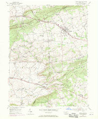 Honey Brook Pennsylvania Historical topographic map, 1:24000 scale, 7.5 X 7.5 Minute, Year 1955