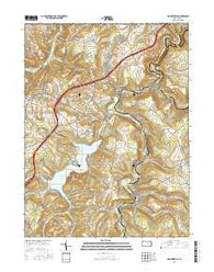 Hooversville Pennsylvania Current topographic map, 1:24000 scale, 7.5 X 7.5 Minute, Year 2016