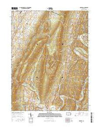 Hopewell Pennsylvania Current topographic map, 1:24000 scale, 7.5 X 7.5 Minute, Year 2016