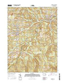 Houtzdale Pennsylvania Current topographic map, 1:24000 scale, 7.5 X 7.5 Minute, Year 2016