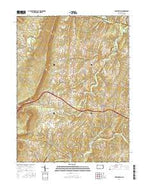 Hustontown Pennsylvania Current topographic map, 1:24000 scale, 7.5 X 7.5 Minute, Year 2016 from Pennsylvania Map Store