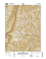 Hustontown Pennsylvania Current topographic map, 1:24000 scale, 7.5 X 7.5 Minute, Year 2016