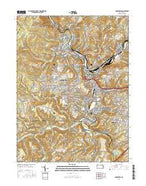Johnstown Pennsylvania Current topographic map, 1:24000 scale, 7.5 X 7.5 Minute, Year 2016 from Pennsylvania Map Store