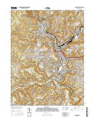 Johnstown Pennsylvania Current topographic map, 1:24000 scale, 7.5 X 7.5 Minute, Year 2016