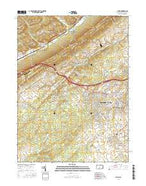 Julian Pennsylvania Current topographic map, 1:24000 scale, 7.5 X 7.5 Minute, Year 2016 from Pennsylvania Map Store