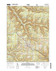 Kane Pennsylvania Current topographic map, 1:24000 scale, 7.5 X 7.5 Minute, Year 2016 from Pennsylvania Maps Store