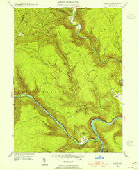 Keating Pennsylvania Historical topographic map, 1:24000 scale, 7.5 X 7.5 Minute, Year 1946